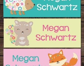 Personalized Waterproof Labels, Waterproof Stickers, Kids Labels, Dishwasher Safe Labels, Daycare Label, School Label, 30 piece label set