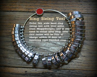 Wide-Band Sizing Tool - Wide-Shank ring sizer - Standard Fit Ring Sizer - MaggiDesigns - Custom Handcrafted Wedding Ring