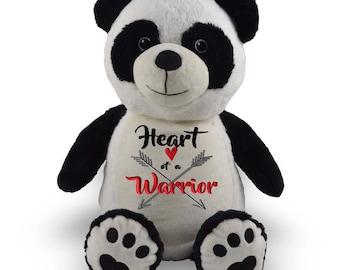 Personalized Stuffed animal, stuffed animal, personalized panda bear, chd baby gift, chd gift