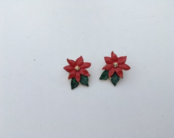 Mother Daughter Matching Poinsettia Pins