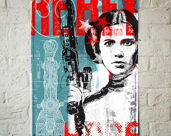 Star Wars Art - Princess Leia - Star Wars Patent print, Art Print, Rebel, Fan Art, pop art, Illustration, Star Wars Poster, Star Wars Gift