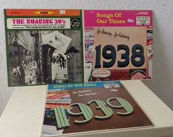 Three Record Albums, The Roaring 20s, Songs of our Times 1938 and 1939. All tested and sound good.
