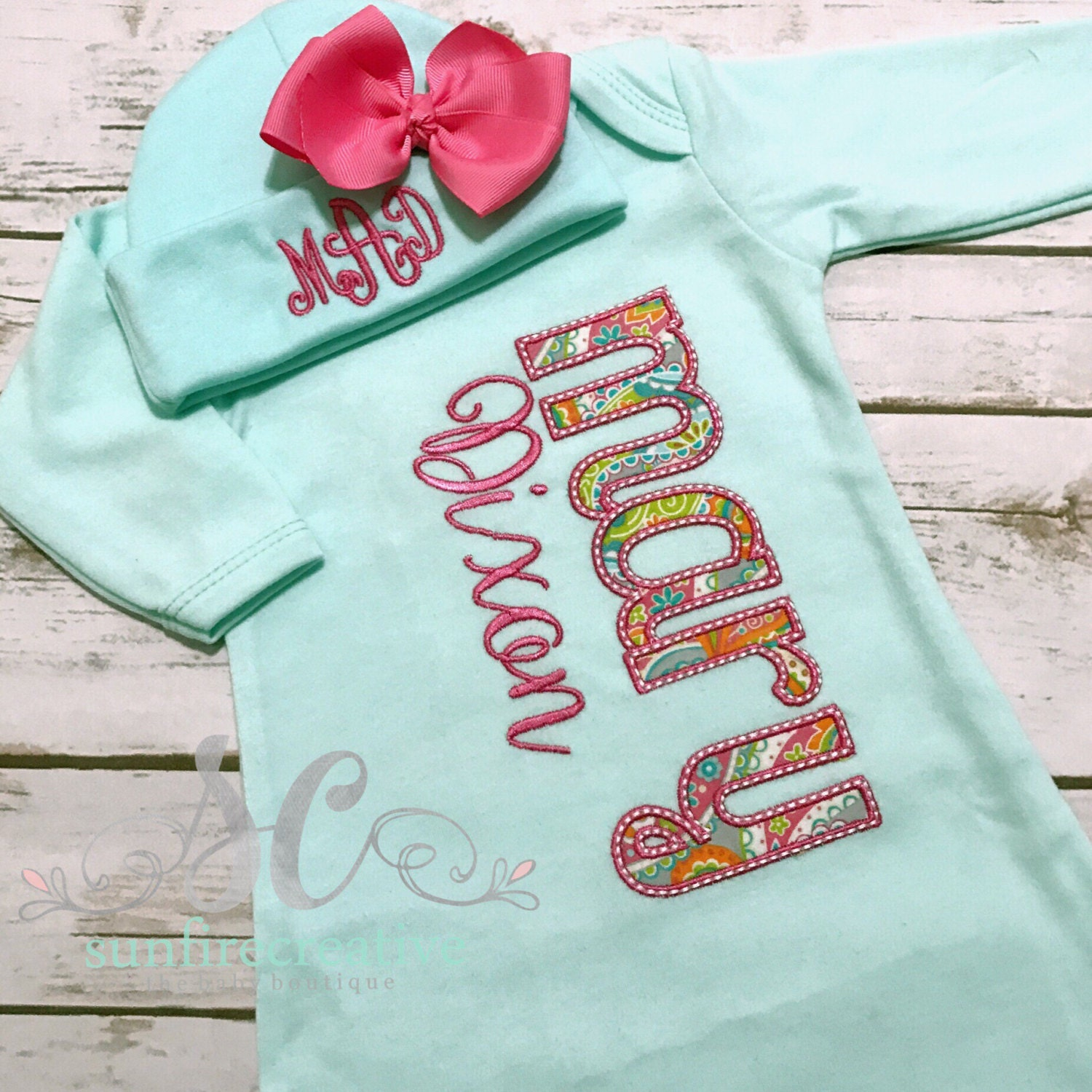 Girl Coming Home Outfit Baby Gown Bow - Baby Girl Bring Home Outfit ...
