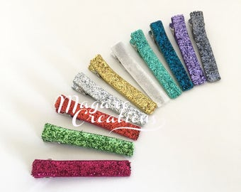 10 pcs,lined hair clips,cover hair clip,girl clips,lined alligator clips,glitter hair clips,hair clips for girls,baby hair clips,hair clip.