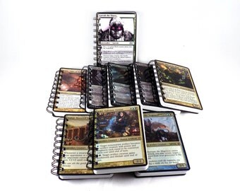 Notebook Upcycled Magic the Gathering Card Over Sized Card Handmde Deck Building Life Tracking Book - Lined or Unlined