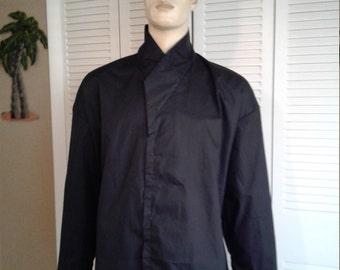 Star Wars Jedi Knight Full Under Tunic Size Medium Long Sleeve Handmade Black