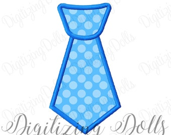 Boys Neck Tie Applique Machine Embroidery Design 4x4 5x7 6x10 Boy INSTANT DOWNLOAD