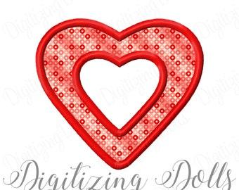 Heart Frame Applique Machine Embroidery Design 2x2 3x3 4x4 5x5 5x7 6x10 8x8 INSTANT DOWNLOAD