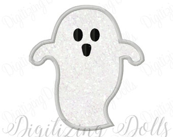 Halloween Ghost Applique 2 Machine Embroidery Design 3x3 4x4 5x5 5x7 6x6 6x10 7x7 8x8 INSTANT DOWNLOAD