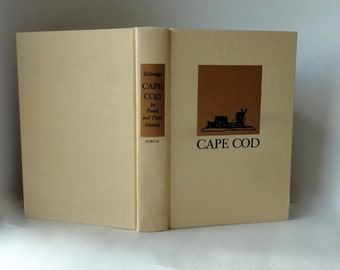 2968 Vintage Book CAPE COD People & History Henry Kitteredge 2nd Edition Illustrated Cloth Hardcover Decorative Pretty Old Book History