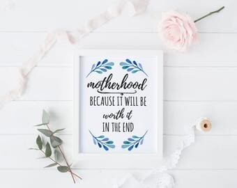 Mother's Day, 8x10 ART PRINT ONLY, Strong Women, Inspirational Quote Print, Frameable Art Print, Inspirational Quote, Motherhood Gift Ideas