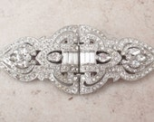 Coro Duette Brooch Dress Clip Set Art Deco Crystal Rhinestone Pat 1798867 Vintage 031616YV