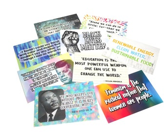 Limited Edition - [Protest] Quote Postcards - Professionally Printed - Choose A Style! [Resist] [Stand Up]