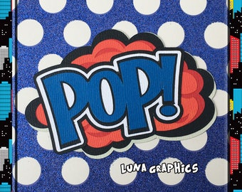 POP Comic Book Words Embellishments Paper Piecing card making and scrapbooking
