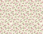 Ruru Bouquet Prima - Quilt Gate USA tiny rosebuds in pink and rose calico print fabric RU2260-17A - cotton quilting fabric