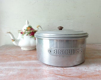 Vintage Biscuits Tin - Gift for her