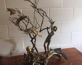 Vintage Mid Century Malcolm Moran Bronze Sculpture
