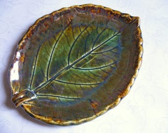 Leaves Are Changing Pottery Leaf Spoon Rest