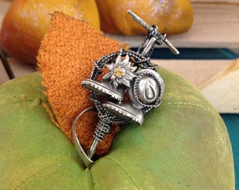 Silver Miner's Pin
