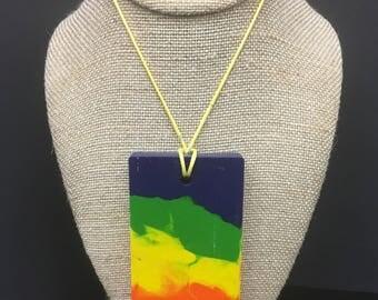 Rectangular crayon necklace