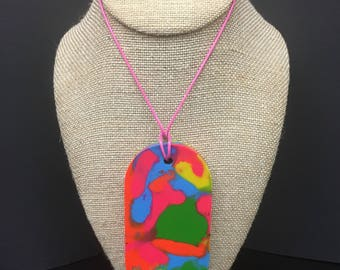 Oval crayon necklace