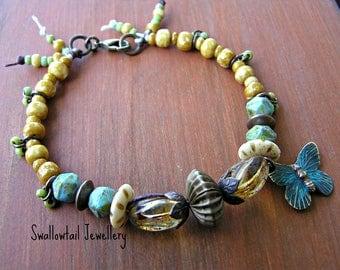 Earthy Butterfly Bracelet