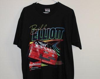 1993 Bill Elliott Budweiser Racing Team T-Shirt SZ L NEVER WORN!