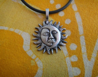 Tribal Sun and Moon Pendant Necklace
