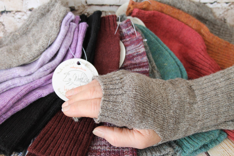 Fingerless Gloves- Alpaca Merino- Arm or Wrist Warmers