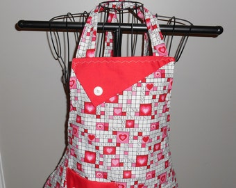 Valentine's Day Crossword Puzzle Women's Apron