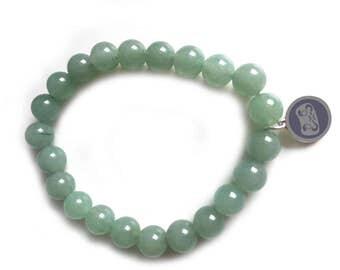 Aventurine bead Daruma bracelet