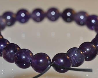 22 Pieces 6mm Lovely~Natural Deep Rich Royal PURPLE AMETHYST Round Beads - G1100