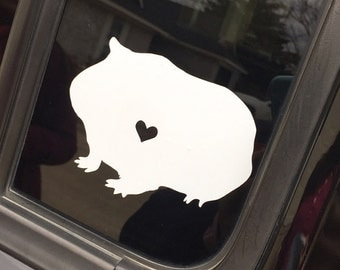 Guinea Pig Decal, rodent, cavy, small animal, pocket pet, guinea pig sticker, guinea pig, guinea pig lover