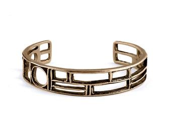 Bronze Cuff | Cuff Bracelet | Geometric Bracelet