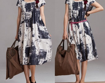 Loose Fitting Short Dress, Women Maxi dress LYQ009 ( M)