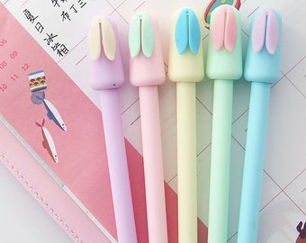 Korean Cute Rabbit Pen - Cute Rabbit Gel Ink Pen  - Kawaii Pen
