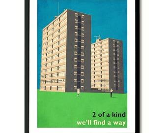 Oasis Slide Away inspired Art Print