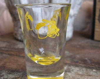 Lemon Chello Shot Glass 1950's