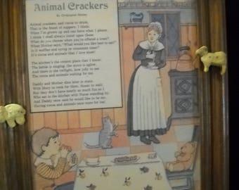 Animal crackers children's room decor
