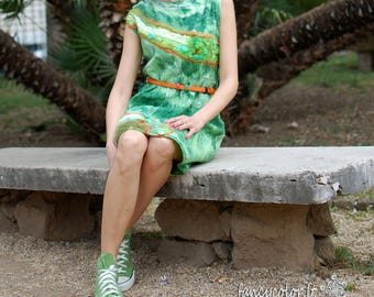 "Original, green felt dress "" Green charm"""
