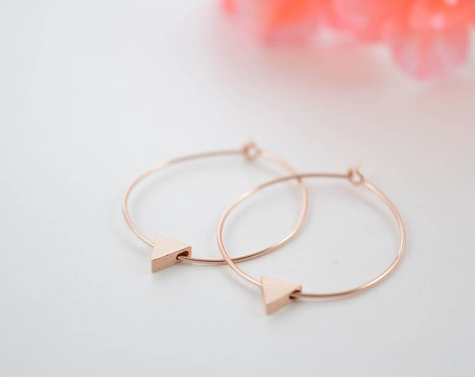 Tiny Triangle Hoop Earrings