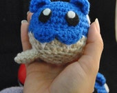 Spheal Pokemon Inspired Amigurumi - Regular blue version - Old school, last one!