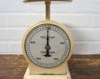 Vintage Beige Chatillon 500 gram Counter Scale New York USA Farmhouse Decor