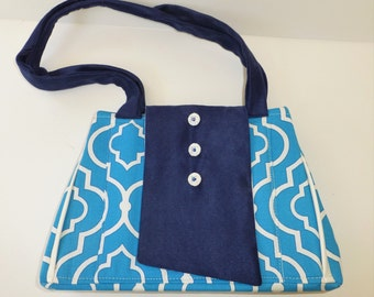 JW Ministry Bag in Blue, EXPANDABLE Field Service Tote, by Vic Von Pip
