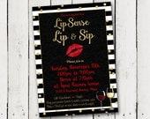 Lipsense Lip & Sip party Invitation