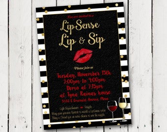 Lipsense Lip & Sip party Invitation