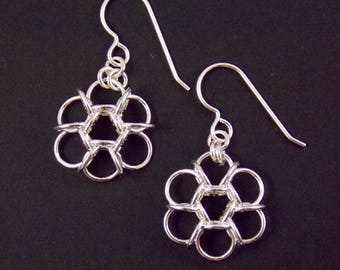 Sterling Silver Fill Small Tao Flower Earrings