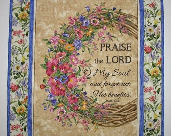 Easter Wall Hanging, Table Topper, Psalm 103, Faith, Christian,  quilted, fabric from Timeless Treasures