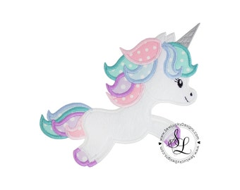 Unicorn Applique Design  - Unicorn Design - Unicorn Embroidery Design - Machine Embroidery Design - Applique Design