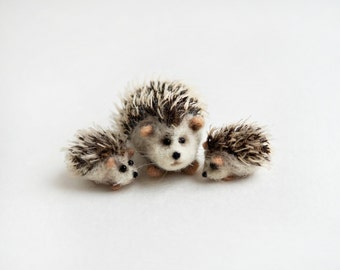 Mom and baby hedgehogs